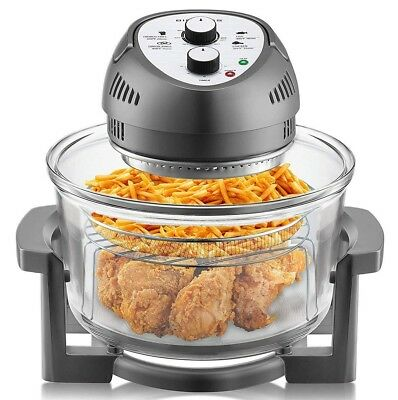 Big Boss Air Fryer Healthy 1300-Watt XL 16-Quart + 50 Recipe Cookbook, 7 Colors!