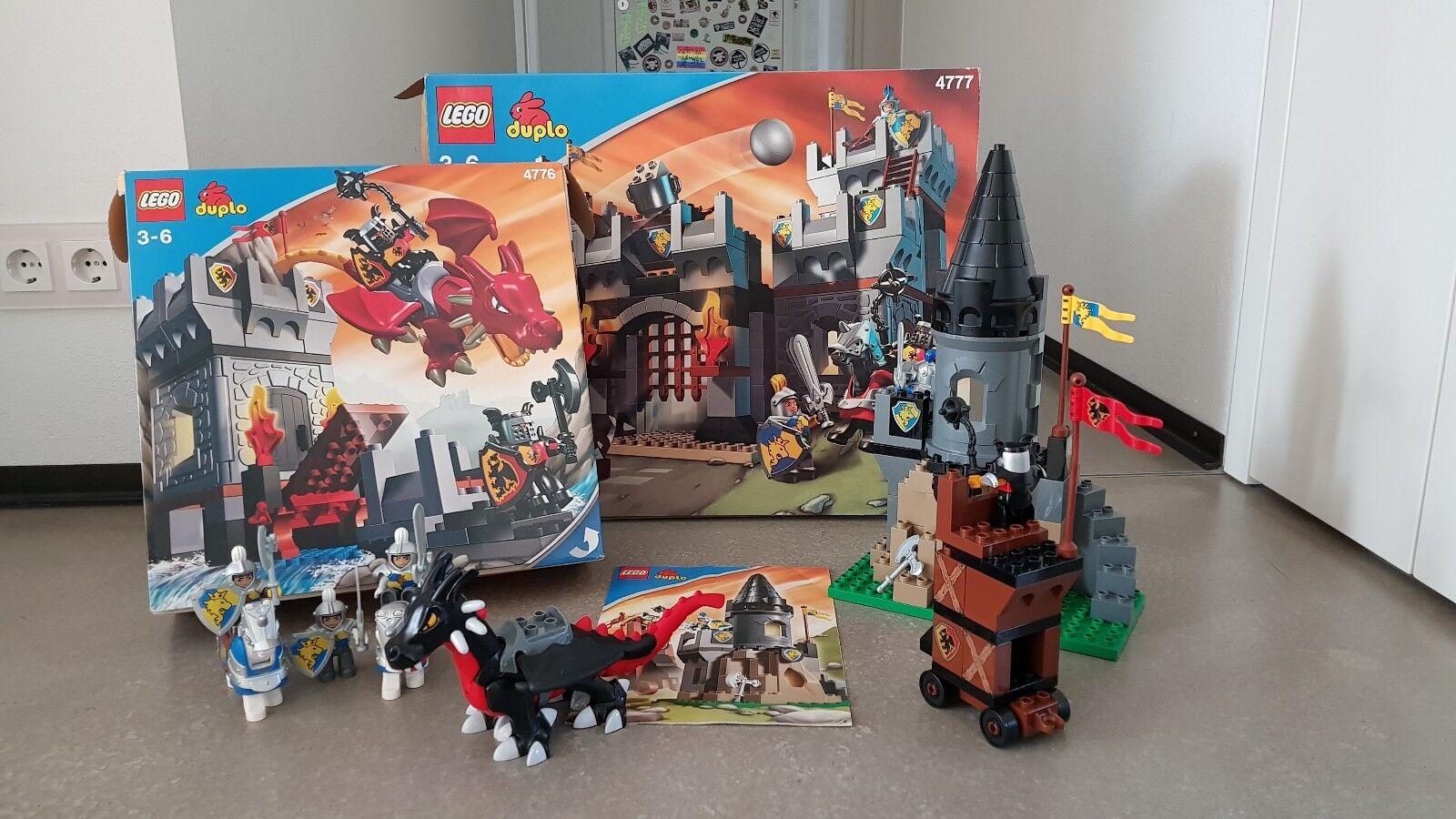 LEGO DUPLO Konvolut Besteehend Besteehend Besteehend aus den 6 Sets 4777 große Ritterburg 2×, 4776... 05fa48