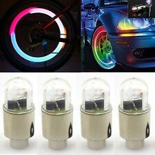 4p AAA Multi Color LED Wheel Valve Stem Cap Tire Light Lamp For Bike Bicycle Car