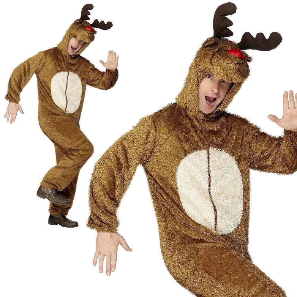 Luxe Adulte Costume Rêne Rudolph Peluche Hommes DéguiseHommes t Noël Noël Noël M L 9c8f04