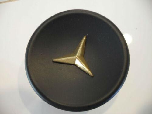 Vintage NOS Round Black Cabinet Drawer Knobs Door Pulls Gold Star Burst Mercedes