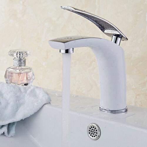 NEU Weiss Wasserhahn Waschtisch Elegant Bad Armatur Waschbecken Badarmaturen DE