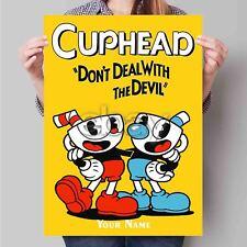 Custom New Silk Poster Wall Decor Cuphead