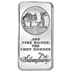 10-oz-SilverTowne-Prospector-Silver-Bar-New
