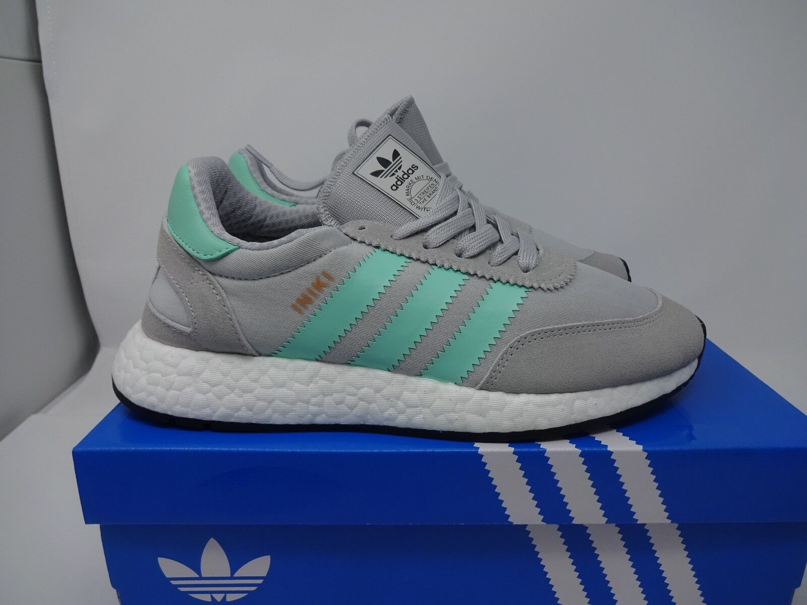 ADIDAS INIKI RUNNER - GREY / GREEN BNIB UK SIZE 6 4 + 5 + 6 SIZE  BB2747 9998f8