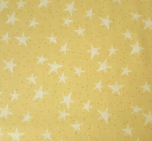 Baby Bear Hugs BTY Quilting Treasures Popcorn the Bear Stars on Yellow