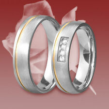2 Titan Ringe, Freundschaftsring, Verlobungsring, Ehering, Trauring, Zirkonia