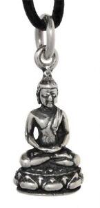 Siddharta-Buddha-Anhaenger-Silber-Gothic-Schmuck-NEU