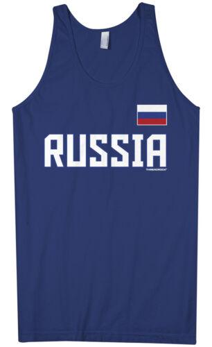 Threadrock Men/'s Russia National Team Tank Top Russian Pride