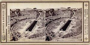Pozzuoli Italia Foto Sommer Behles Stereo Vintage Albumina Ca 1870