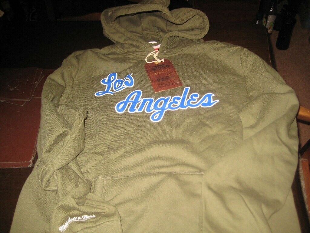 LOS ANGELES MITCHELL & NESS HOODY LARGE BRAND NEW WITH TAGS