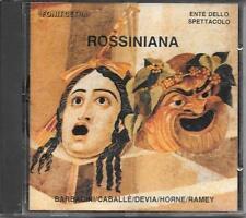 "RARO CD FUORI CATALOGO 1989 "" ROSSINIANA "" MONSERRAT CABALLE'  MARIELLA DEVIA"
