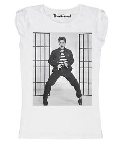 Elvis Presley Regalo Mujer De Detalles Nuevo Idea Camiseta Fuego Danza IfY7v6gyb