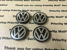 NEW VW VOLKSWAGEN SET OF 4 CENTER WHEEL WHEELS RIM RIMS CAP CAPS 6N0601171 55MM