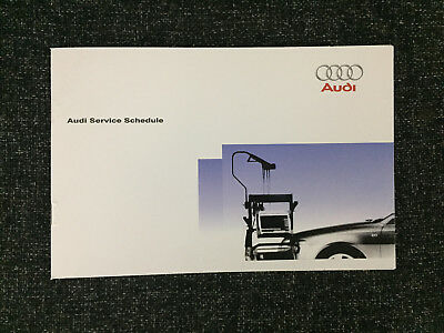 AUDI SERVICE BOOK NEW ALL MODELS PETROL AND DIESEL A1 A2 A3 A4 A5 A6 A8 S2 S3$