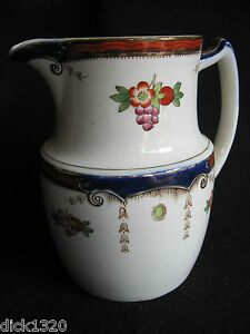 ART-DECO-FORD-amp-CO-HAND-PAINTED-2-PINT-WINE-PITCHER-E1215-c-1930-039-s-EX