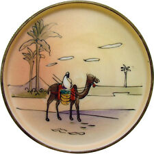 Hand-Painted Nippon Porcelain Coaster with Arab Riding Camel
