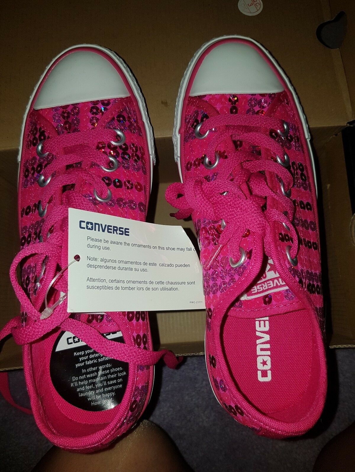 GENUINE CONVERSE SNEAKERS - NEW - SIZE UK 4