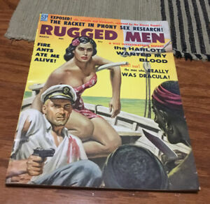 Vintage RUGGED MEN March 1959 Magazine Clarence Doore Cover -HIGH GRADE-