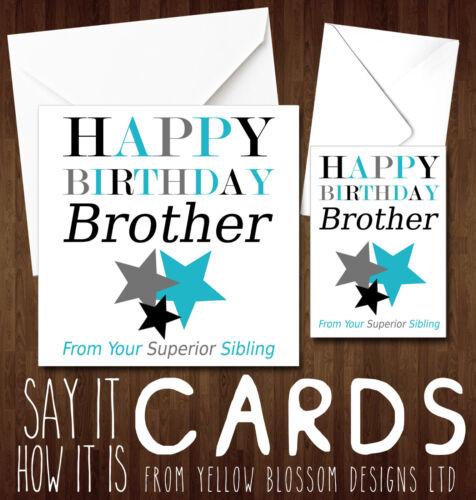 Happy Birthday Rude Greetings Card Funny Humour Cheeky Joke Novelty Brother