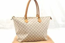 819c65d33e6c Authentic Louis Vuitton Damier Azur Saleya MM Shoulder Tote Bag N51185 LV  58302