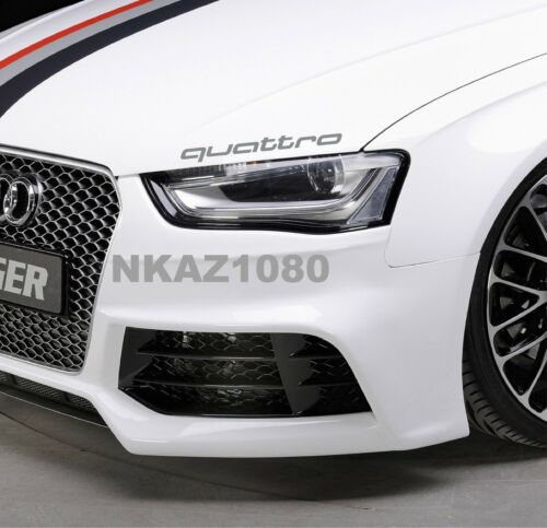 QUATTRO AUDI Vinyl Decal sticker Sport Racing hood emblem  SILVER