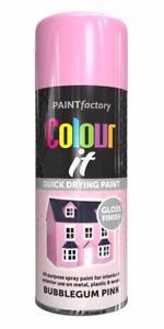 X1-Paint-Factory-Multi-Usage-Couleur-It-Spray-400ml-Bubblegum-Rose-Brillant