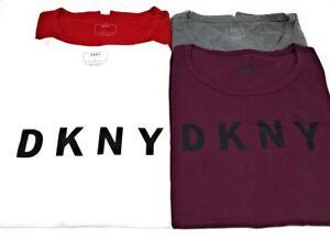 DKNY-Womens-DKNY-Classic-Logo-Crew-Neck-Short-Sleeve-Cotton
