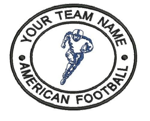 Embroidered Patch Personalised American Football 5 A Side Club Team Badge Sew On