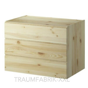 Massivholz Kommode mit 3 Schubladen Kiefer Schrank Kleiderschrank IKEA IVAR NEU