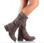 Womens-Zipper-Buckle-Mid-Calf-Boots-Vintage-Buckle-Sz35-43-Combat-Vintage-Shoes thumbnail 9