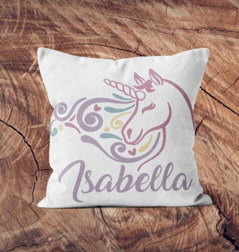 Personnalisé Coussin tout nom Unicorn Oreiller Personnalisé Imprimé Cadeau D/'anniversaire 6