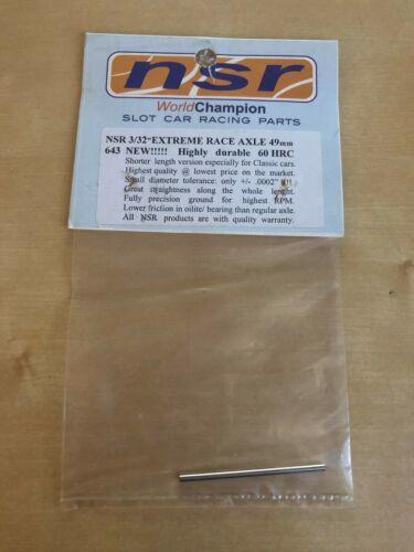 "NSR Tuning Spares-NSR643 3//32/"" Extreme Race Essieu 49 mm-Hautement Durable 16HRC"