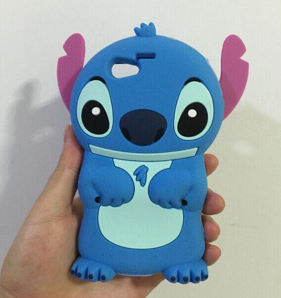 3D Blue Stitch Silicone Back Cover Case For Sony Xperia Z1 mini Z3 mini