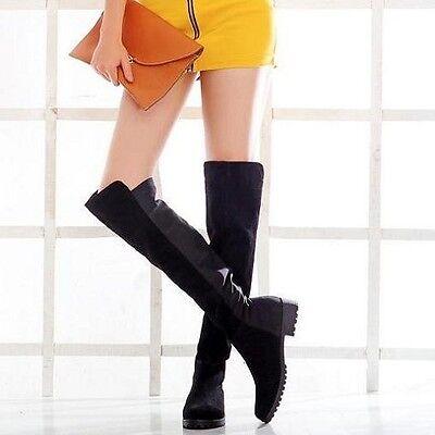 Korea Women Girl Fall Winter Over The Knee High Long Boots Shoes SH1171