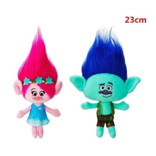 2Pcs Movie Trolls Poppy /& Branch Hug /'N Plush Doll Toy Set Gift 9/'/' 23CM