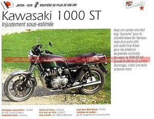 KAWASAKI Z 1000 ST ( Z1000 ST Z1000ST 1979 Fiche Moto 000203 - France - État : Comme neuf: Livre qui semble neuf, mais ayant déj été lu. La couverture ne présente aucune marque d'usure apparente. Pour les couvertures rigides, la jaquette (si applicable) est incluse. Aucune page n'est manquante, endommagée, pli