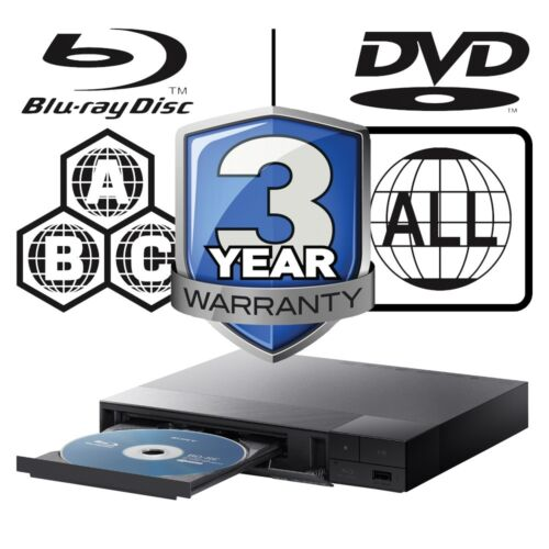 Sony Blu-ray Player Multi Region All Zone Code Free BDPS1500B BDP-S1500B