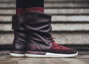 hot sale online 82218 b14de Image is loading WOMENS-NIKE-ROSHE-TWO-HI-FLYKNIT-BOOT-SIZE-