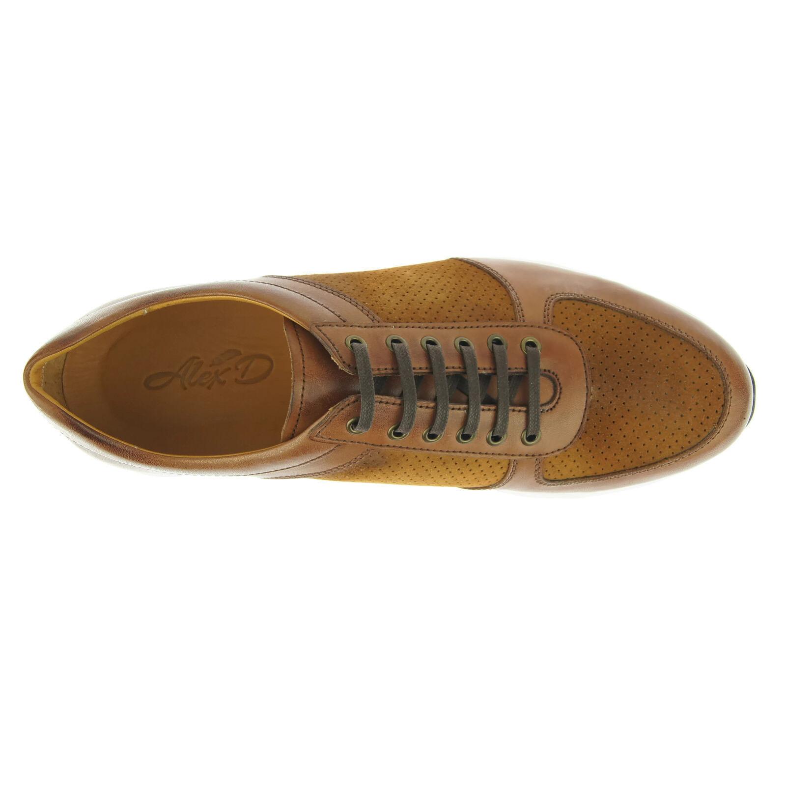 Alex D  Oxnard  Low-Top scarpe da ginnastica, Uomo Uomo Uomo Casual Scarpe da atletica, Cognac fe0732