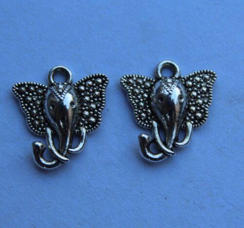20//100pcs Retro style Elephant Charm Pendant DIY Jewellery crafts 15x16mm