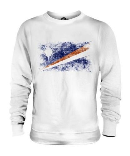 MARSHALL ISLANDS DISTRESSED FLAG UNISEX SWEATER TOP MARSHALLESE SHIRT JERSEY