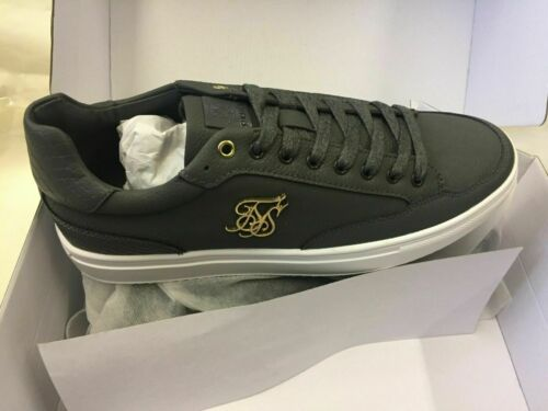 SikSilk Phantom Anaconda Trainers Dark Grey casual sneakers Synthe leather shoes