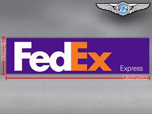 FED EX FEDEX EXPRESS LOGO RECTANGULAR DECAL / STICKER