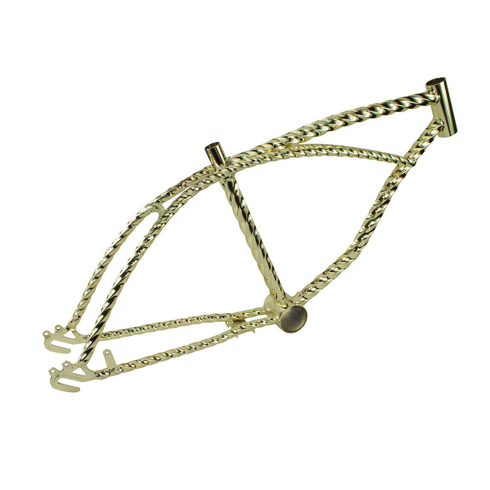 BRAND NEW  Gold GoldIE LOCKS TWISTED 20  BICYCLE FRAME LOWRIDER BICYCLES
