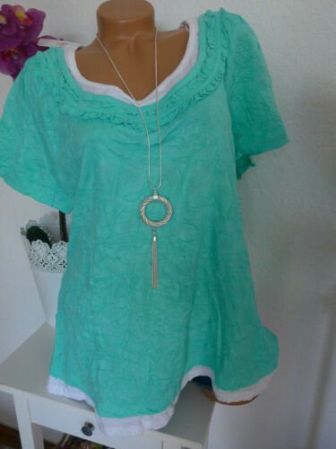 Sheego Shirt manches courtes taille 44//46 à 48//50 Grande Taille Lagen Look 007