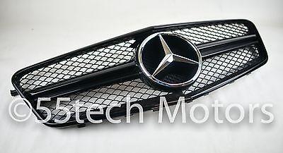 Mercedes W212 1 Fin Grille Grill E550 E63 AMG 2010 2011 2012 2013 E class SBK CH