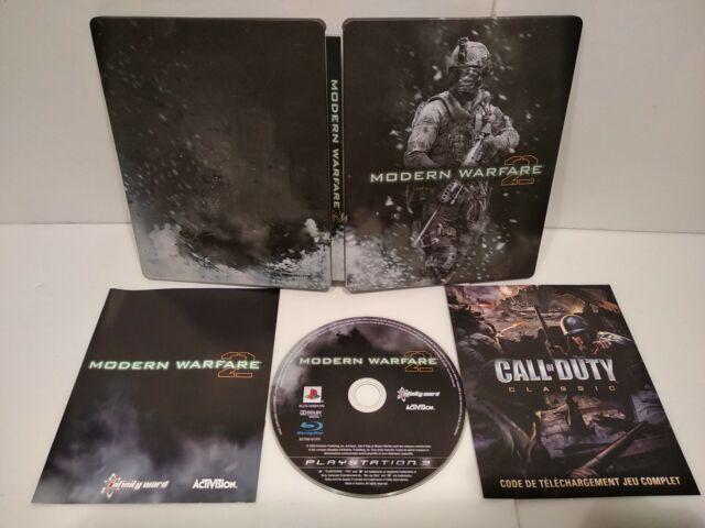 Call of Duty Modern Warfare 2 Steelbook + Jeu PS3 Region Free Complet Comme neuf