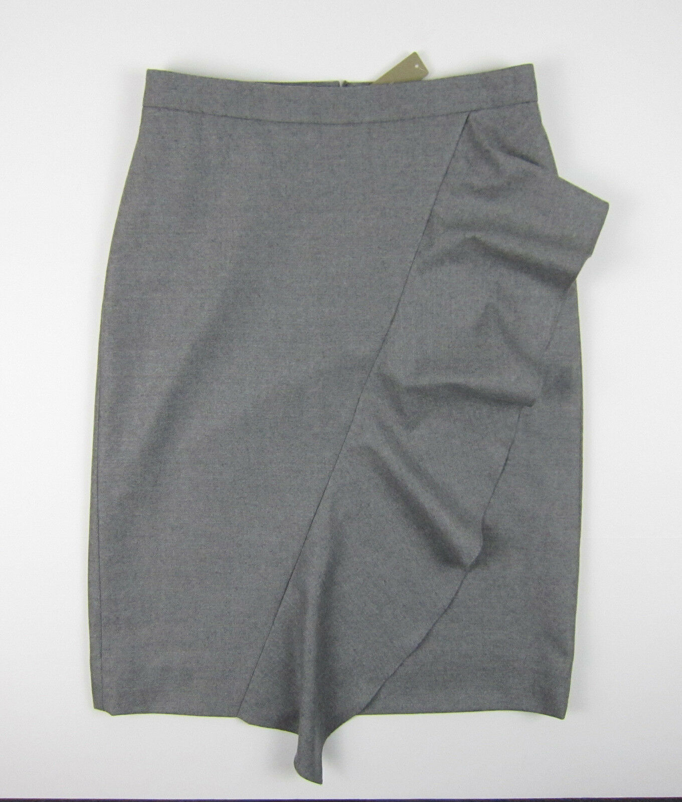 NWT J Crew Collection skirt in Italian wool flannel Sz 8 Pewter FA16  178 F5681