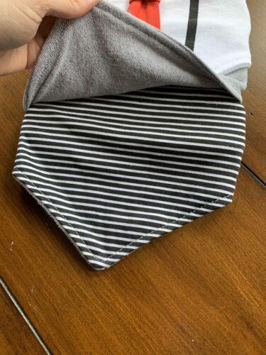 NWT Modern BABY BOY 3 PACK OF Reversible Bandana BIBS Tie Formal Stripe